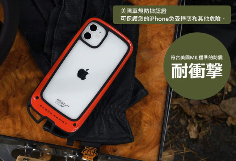 日本, ROOT, CO.Shock, Resist, Case, +Hold, iPhone, 12/Pro/Max/Mini ,Case(十一月到貨)